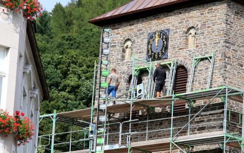 Im Sommer 2014 wurden die umfangreichen Sanierungsmaßnahmen am Turm des Plettenberger Wahrzeichens abgeschlossen