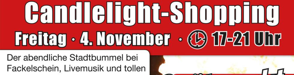 Spätmarkt zum Candlelight-Shopping